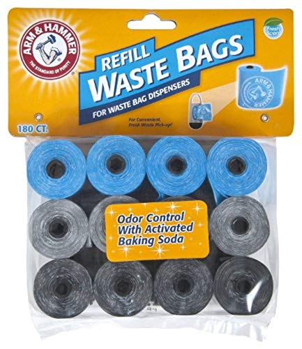 Arm & Hammer Easy-Tear Disposable Waste Bag Refills Assorted Colors Various Multi-packs Available