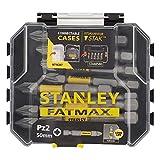 STANLEY STA88572-XJ Caja de Almacenamiento de 10 Puntas Sueltas de Impacto Pz2 FATMAX, de 50mm