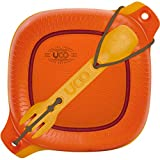 UCO 4-Piece Camping Mess Kit with Bowl, Plate and 3-in-1 Spork Utensil Set, Retro Sunrise