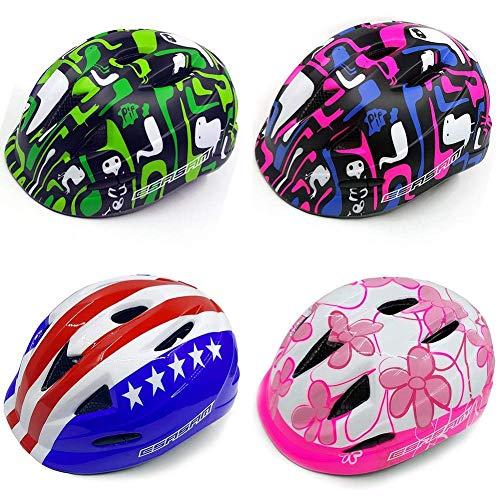 FENGLI Kinder Fahrradhelm Kleinkind Helm Für Kinder Alter 3-8 Jahre alt Mädchen Jungen, atmungsaktive Multifunktions-Kopf-Schutzausrüstung für Radfahren Skating Reiten Roller Blading Skateboarding
