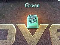 108キーメカニカルキーボード 手作り3DスパイダーMXゲーミングメカニカルキーボード用バックライト付きキーキャップキーキャップ職人樹脂キーキャップ (Color : Green)