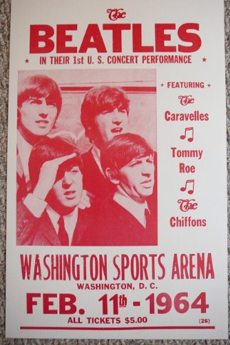 The Beatles in their 1st US Performance Concert Poster