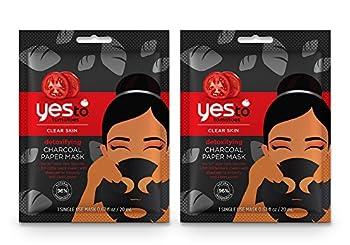 Yes To Tomatoes Detoxifying Charcoal Paper Mask Bundle  6 Single Use Masks
