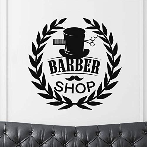 Wopiaol Sweet Wall Stickers Theorie Beweegbare muurschildering Barber Barbersign Beauty kapper 77X74Cm