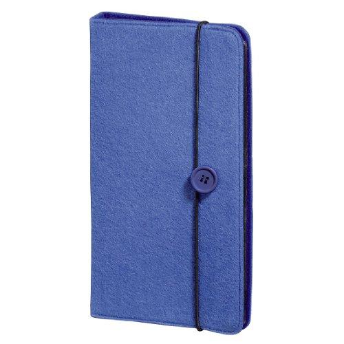 Hama CD Tasche Filz (für 48 Discs, CD / DVD / Blu-ray / Hörbücher, Mappe zur Aufbewahrung, platzsparend für Auto und Zuhause, Transporthüllen) Blau