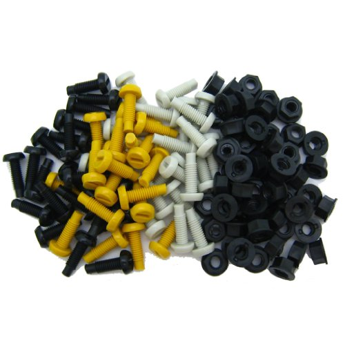 All Trade Direct 60 Pk Mixed Colour Plastic Number Plate Bolts & Nuts