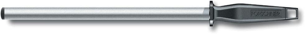 10-Inch Hollow Core Black Plastic Handle Oval Victorinox Diamond Honing Steel Oval