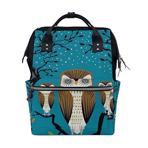 Multifunktionsrucksack Rucksack Perfect Owls Forest Travel Daycare für Frauen Mädchen