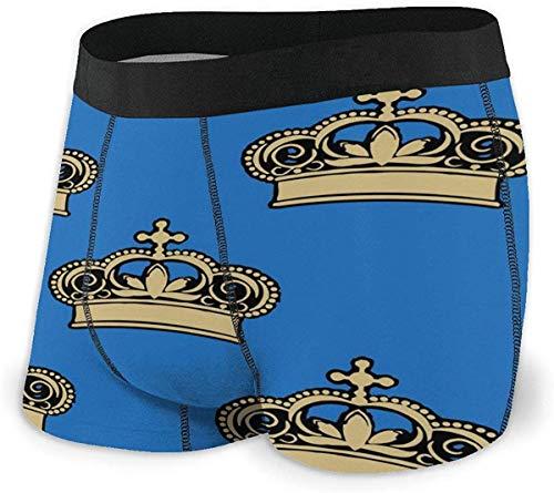 zengdou Royal Crowns Boxershorts für Herren Stretch-Unterwäsche No Ride-up Boxer Underwear Comfortable