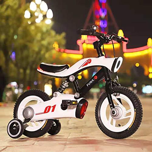 WuKai Kinderfiets, achterlicht, LED, voetsteun, mobiliteit, verjaardagscadeau, geschenkdoos