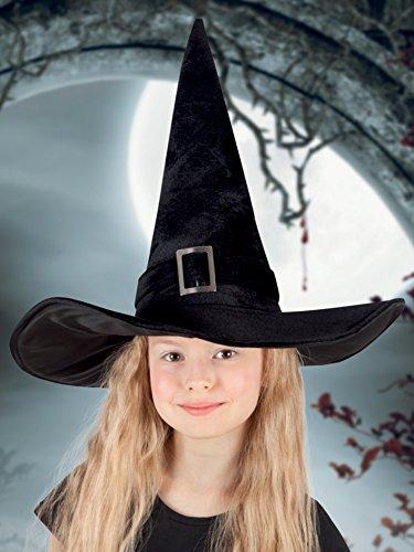 Boland Kendra 00157, Cappello di Streghetta per bambini, Nero, 52-54 cm