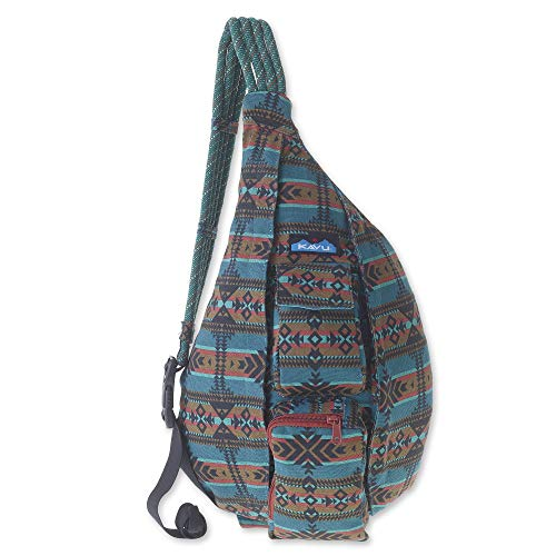KAVU Rope Bag - Sling Pack for Hiking, Camping, and Commuting - Pacific Blanket