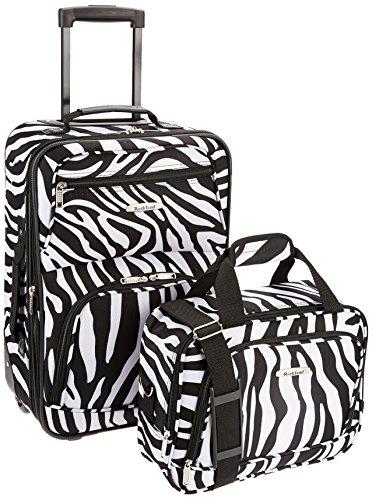 Rockland Fashion Softside Upright Luggage Set, Zebra, 2-Piece (14/19)