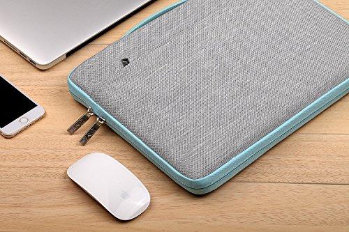 "51cOGl8NPlL - ZINZ Maletín 11 13 Funda para Portátiles para 2018 MacBook Air 13"" A1932 / MacBook 11,6"" / Surface 6,5,4,3 / XPS 3 | Bolsa Protectora | Impermeable Ordenador Portátil Caso, Gris"