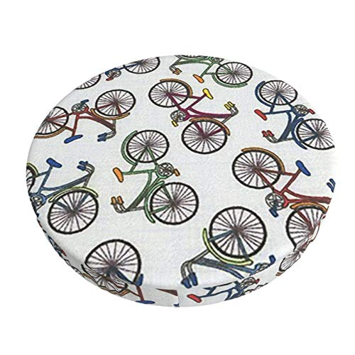 Cubiertas Coloreadas del Amortiguador del Taburete De Bar De La Bici De La Bicicleta, Cojín Redondo Acolchado Antideslizante De Chiar