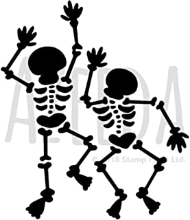 Azeeda A5 'Dancing Skeletons' Wall Stencil / Template (WS00021544)