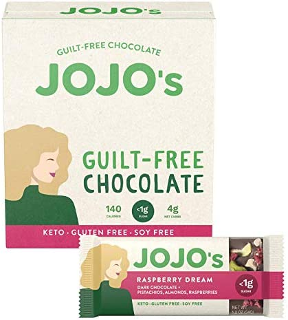 JOJO s Dark Chocolate Bars Made with Hemp Plant Based Protein Sugar Free Low Carb Vegan Paleo product image
