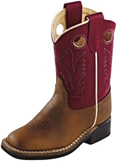 Old West Toddler-Boys' Cowboy Boot Square Toe - Bsi1883