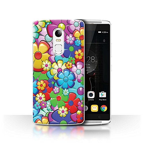 Stuff4® Hülle/Case für Lenovo Vibe X3 / Lebendige Blütenkraft Muster/Hippie Hipster Kunst Kollektion