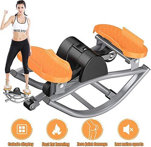Thole Stepper Bike Fitnessgeräte Mini Twisting Stepper mit LCD-Monitor für Home Office Quiet Workout Abnehmen Übung Schrittmaschine