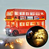 ILS - Kit illuminazione fai-da-te luce a led SOLO per giocattoli mattoncini LEGO 10258 London Bus Building Block