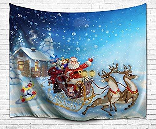 LDHHZ Navidad Navidad Pap¨¢ Noel Trineo tapices Tapiz de Tela para Dormitorio Sala de Estar Dormitorio 200x150cm