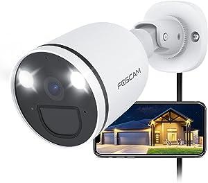 Foscam 2K/4MP 2.4G 5G Wifi Spotlight Security Camera, Color Night Vision, Siren Alarm, AI Human Detection, PIR Sensor, 2-Way Audio, 121° View, IP66 Weatherproof Outdoor IP Camera, SPC