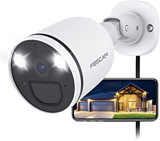 Foscam 2K Bullet Camera with Spot Light and PIR Detection, White