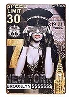 セクシーポスター ブリキ看板 ポリス インテリア ルート66 マンハッタン ハードコア セクシーガール sexy エロ 女の子 女性 人物 アメリカン雑貨 20cm 30cm A4