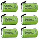 Juego de 6Pilas Recargables batería ni–mh 4/5SC 1.2V 2000mAh–T. a soldar (Pack de 6Pilas)