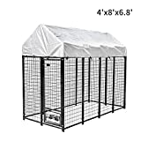 Pupzo Welded Wire Dog Kennel,Outdoor Heavy Duty Pet Kennel with UV Protection and...