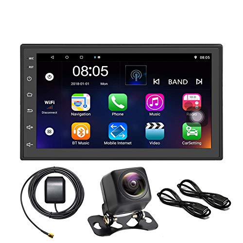 Panlelo S2 + NV Android 8.1 Car 2 Din Universal Car Stereo 7 Pulse Nightly Versione AM/FM/RDS Radio 1024 × 600 Quad Core + 16G Car Audio Player Navigazione GPS WiFi BT 2USB SWC Door