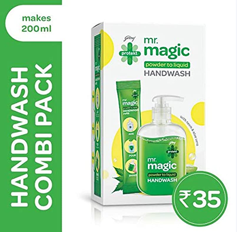 悪党安定甘やかすGodrej Protekt Mr. Magic Handwash 9g (Pack of 2)