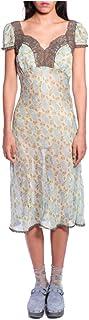 Anna Sui Women'S Mint Rosine Rose Cap Sleeve Dress