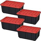 タフボックス ブラック/レッド THB-98×4 (4個セット)(250498) アイリスオーヤマ (送料無料)
