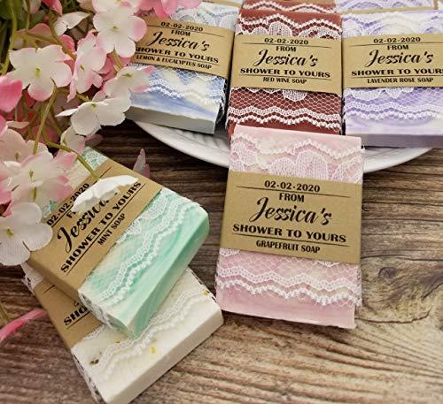 Rustic Bridal Shower Favors, Soap Party Favors, Set of 10, Rustic Wedding Favors