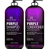 Best Shampoo For Gray Hairs - BOTANIC HEARTH Purple Shampoo and Conditioner Set Review