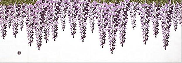染の安坊 本染め手ぬぐい 「藤棚」藤/藤の花/手ぬぐい 100cm×35cm