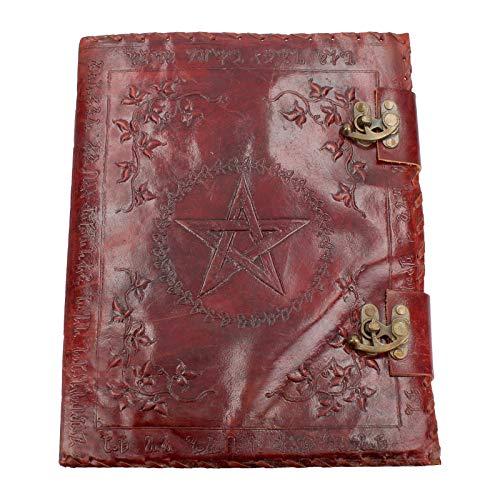 Nemesis Now - Buch der Schatten-Tagebuch mit Schloss, Leder, 36 cm, Braun