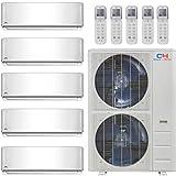 COOPER AND HUNTER Five 5 Zone Mini Split Ductless Air Conditioner Heat Pump 9000 9000 9000 18000 18000 Multi
