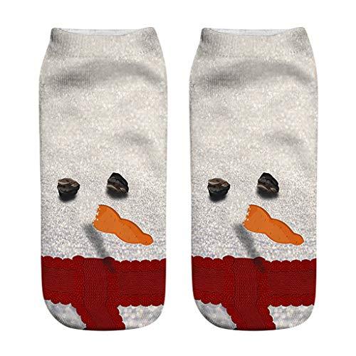 URIBAKY - Calcetines para hombre y mujer, estampados a la moda, 3D, diseño de Navidad, f, Talla única