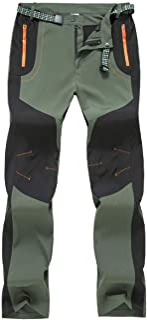 Gopune Men's Outdoor Hiking Pants Quick Dry Lightweight Breathable Mountian Running Jogger Pants Zipper Pockets