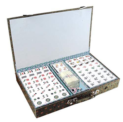 Engelhart - 250400 - MAH Jong Kunstharz - Chinesisches Strategiespiel - Klassische Brettspiele