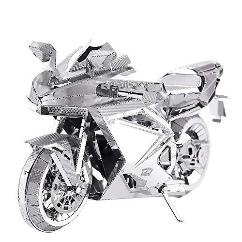Piececool Rompecabezas 3D de metal para adultos – Motorcycle II – Maqueta de metal para adultos
