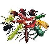 昆虫フィギュアセット 13匹 インセクト 大きい虫 偽虫 昆虫おもちゃ 誕生日プレゼント パーティー小物