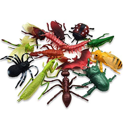 13pcs Bugs Toys Big - Realistic Insects Toys Giant - Large Fake Bugs Insects Toys for Kids Birthday Gift Party Favors