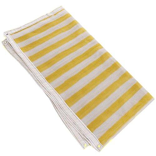 DUO Voiles d'ombrage 90% Sun Mesh Shade Sunblock Shade UV Résistant Net Pour Jardin Fleur Plante Jaune Blanc pour plante et fleur (Color : Yellow, Size : 2×3M)