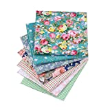7Pcs Baumwolltücher DIY Baumwolltuch, Blumen Baumwolltuch,