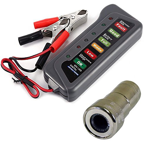 New 12V Car Battery & Alternator Tester - Test Battery Condition & Alternator Charging (LED indicati...
