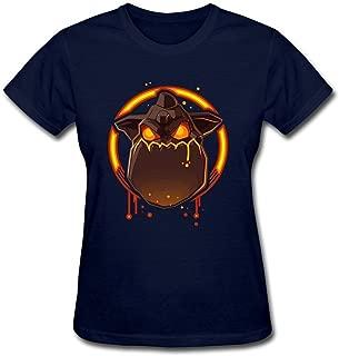 Tommery Women's Lava Hound Game Design Short Cotton T Shirt